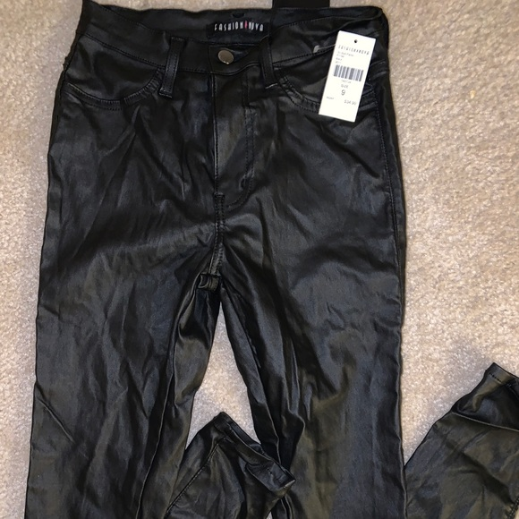 4dbeea262c243 Fashion Nova Pants   Black Faux Leather Jeggings Nwt   Poshmark